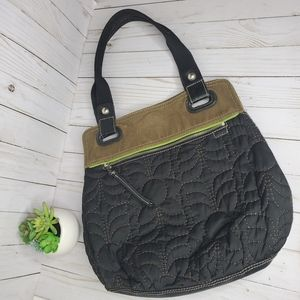 Fossil Quilted Canvas Tote Bag